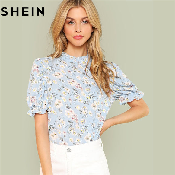 Ruffled Sleeve Floral blouse