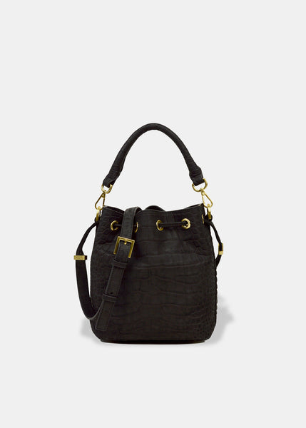 Alix Mini Bucket in Black