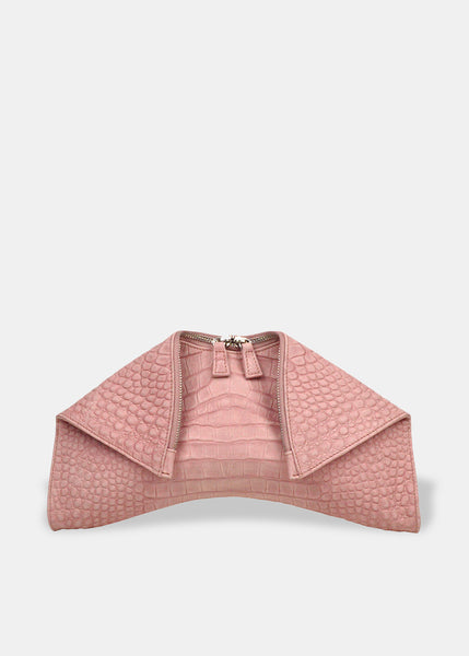 Medium Folded Clutch in Blush