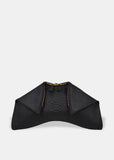 Medium Folded Clutch in Black