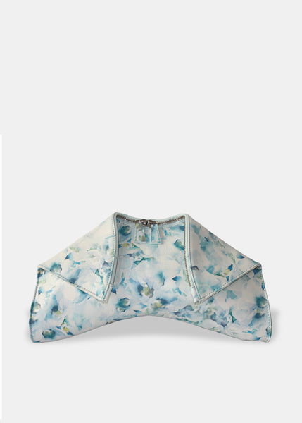 Medium Folded Clutch in Matise Floral Blue