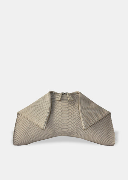 Medium Folded Clutch in Grey
