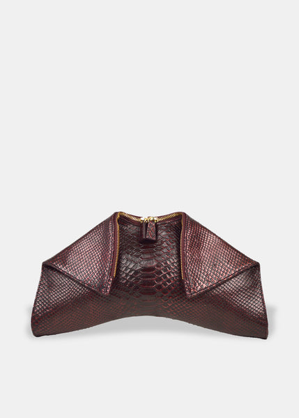Medium Folded Clutch in Wine