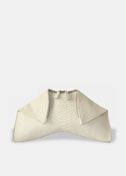 MEDIUM FOLDED CLUTCH IN IVORY
