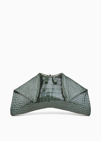 Medium Folded Clutch in Forest