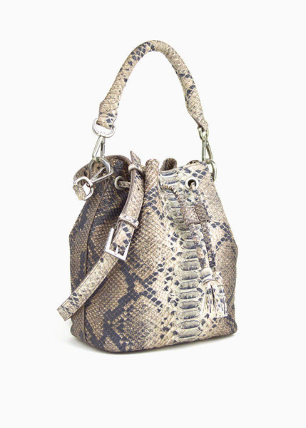 Alix Mini Bucket Bag in Old Grey Wash