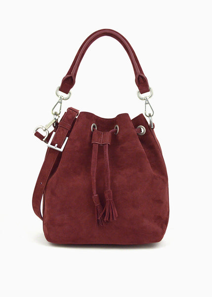 Alix Mini Bucket Bag in Bitter Chocolate Suede