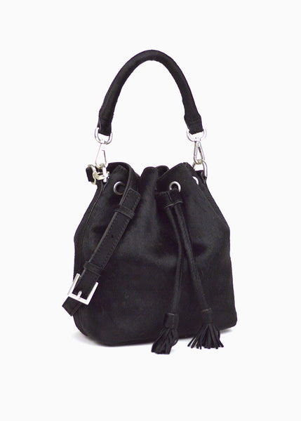 Alix Mini Bucket Bag in Black