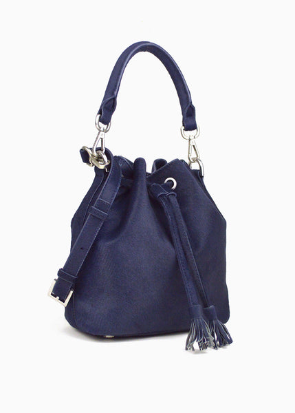 Alix Mini Bucket Bag in Indigo Blue