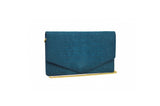 Envelope Clutch in Teal Blue