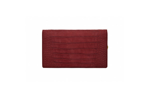 Envelope Clutch in Wine