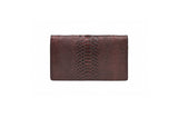 ENVELOPE CLUTCH IN METALLIC WINE