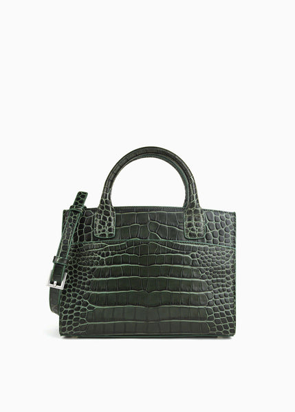 Mini Everyday Tote in Forest Green Crocodile