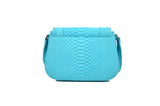 Medium Saddle Bag in Aqua