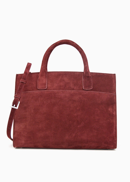 Medium Everyday Tote in Bitter Chocolate Suede