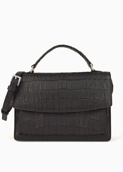 Mini Satchel in Black Nirvana