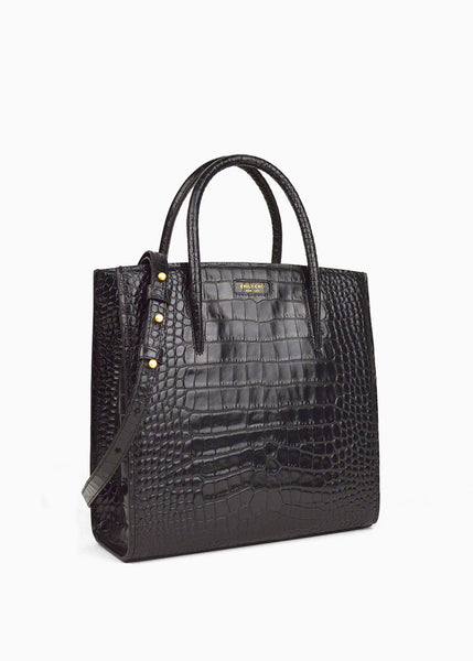 All Day in Black Crocodile