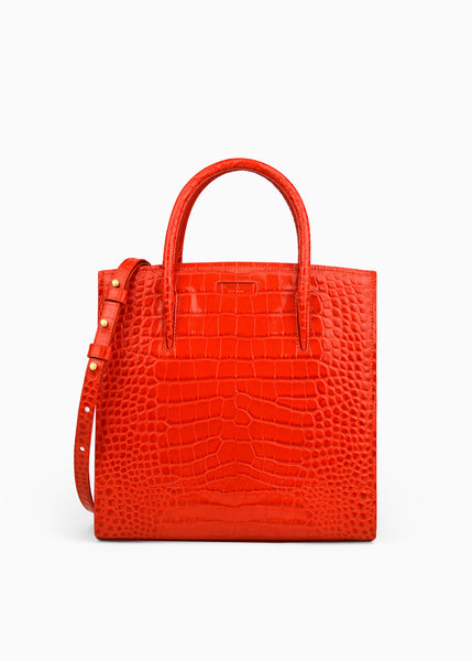 All Day in Valentine Red Crocodile