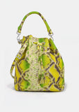 Alix Medium Bucket in Lemon Green / Apple