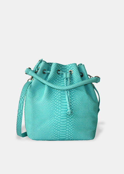 Alix Medium Bucket in Turquoise