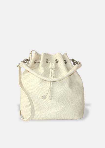 Alix Medium Bucket in Ivory