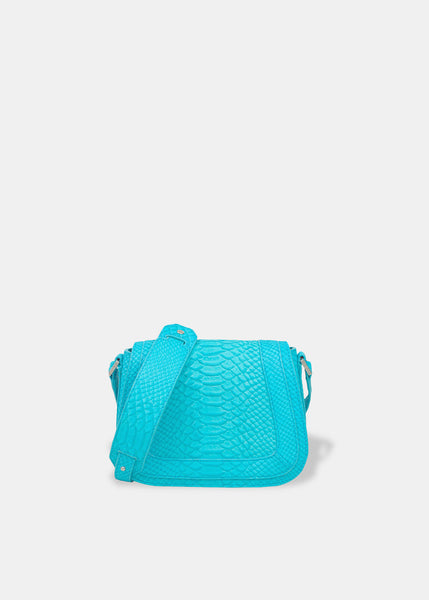 Mini Saddle Bag in Aqua