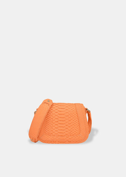 Mini Saddle Bag in Coral