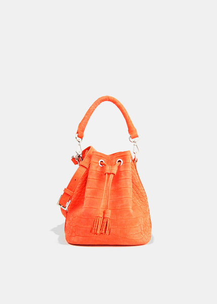 Alix Mini Bucket in Flamingo