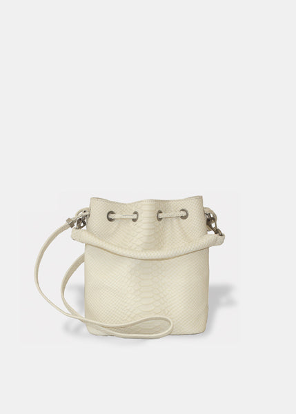 ALIX MINI BUCKET IN IVORY