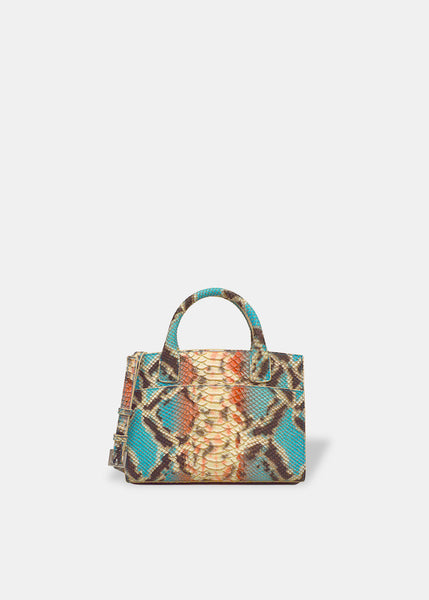 Mini Everyday Tote in Aqua / Coral Bingo Ivrea