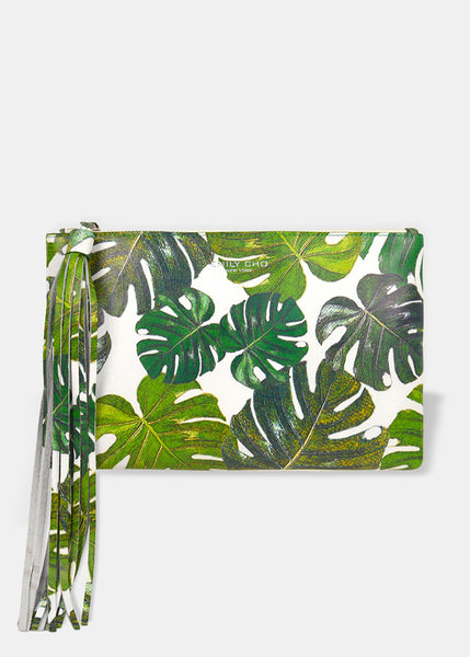 Flat Clutch in Tropical Print