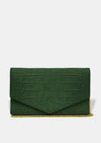 Enveloppe Clutch in Emerald Green