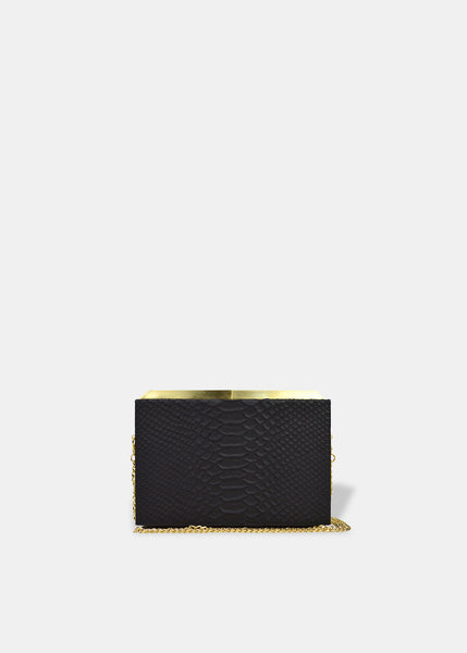 Box Clutch in Black