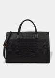 Oversized Everyday Tote in Shiny Black