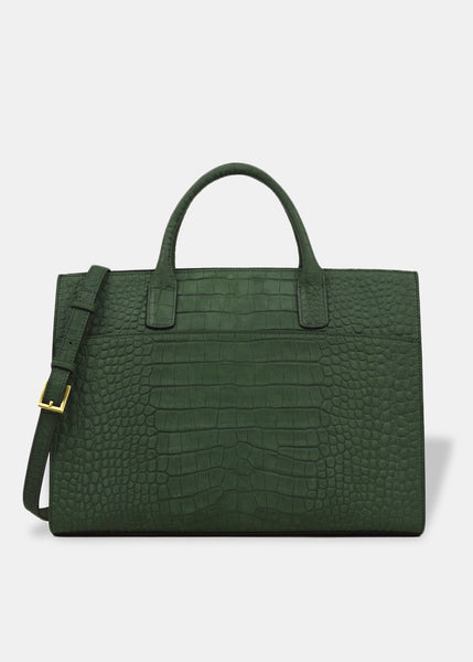 Oversized Everyday Tote in Emerald Green