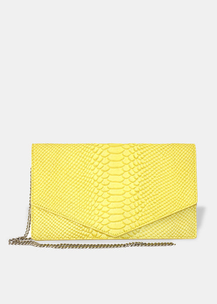 Envelope Clutch in Yellow