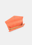 Continental Wallet in Coral
