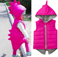 Image of Rawr Dinosaur Sleeveless Jacket (Gilet)