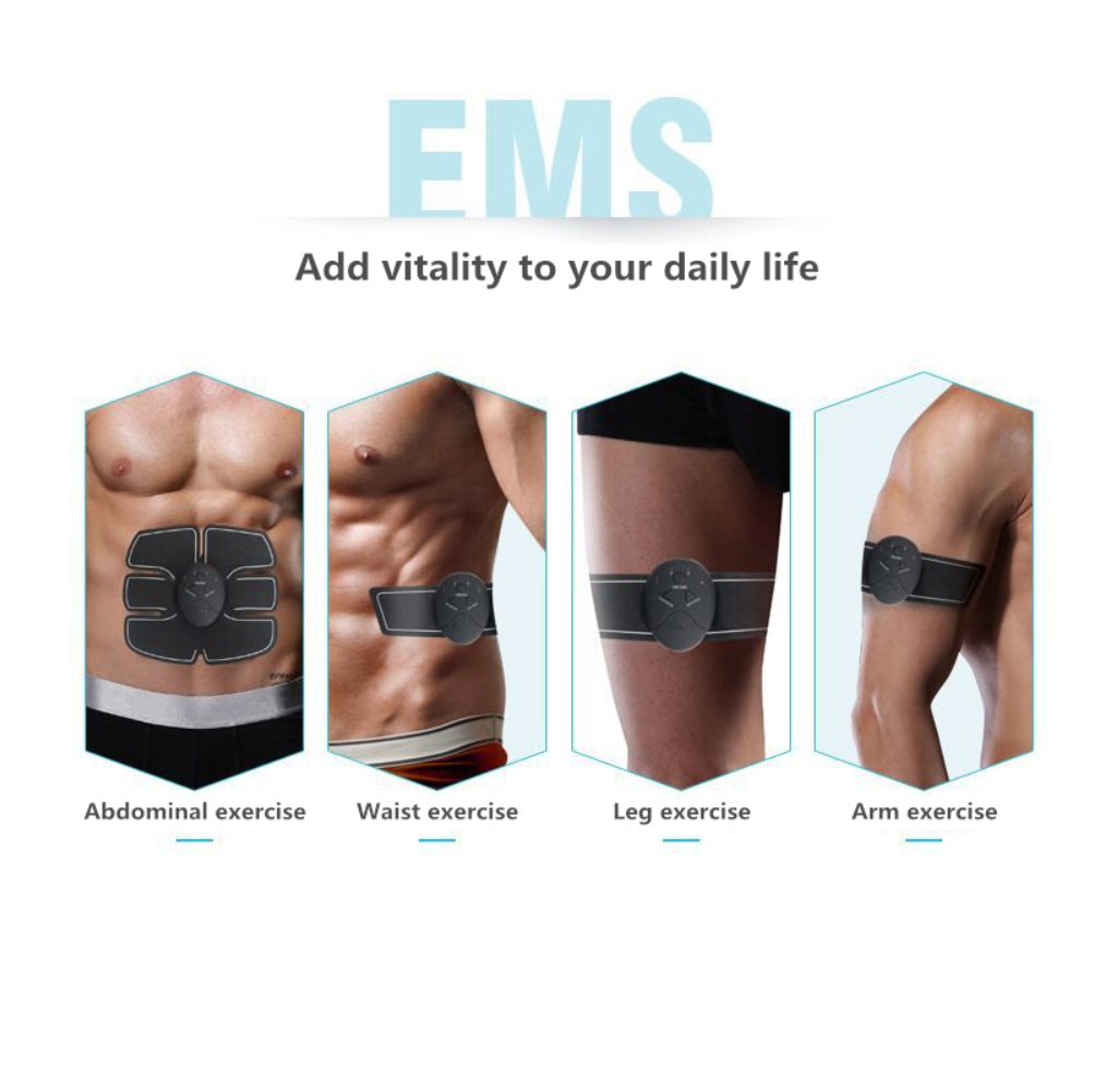Add vitality to your daily life. Use our ABS EMS Fitness Trainer for Abdominal, Waist, Legs and Arms exercises.
