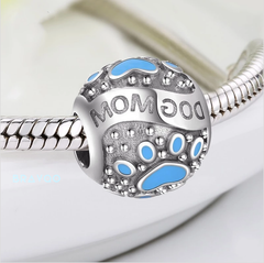 Image of Dog Mom Charm Beads (925 sterling silver )