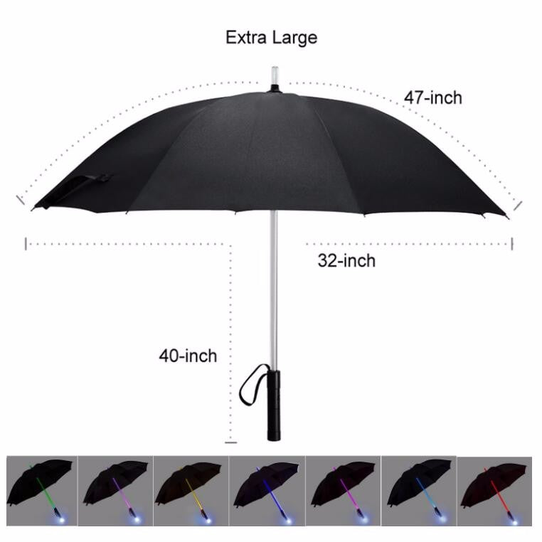 7 Colors LED Umbrella with Flashlight