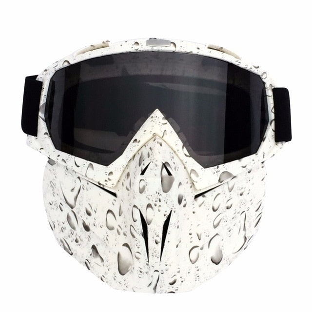 Ski / Motocross Eyewear / Goggles with Windproof Face Mask