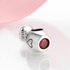 Image of 925 Sterling Silver bright red wine cup (fine charm beads)