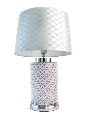 Damond Blue and White Lamp