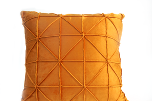 Madison Cushion Cover, Faux Suede, Burnt Yellow
