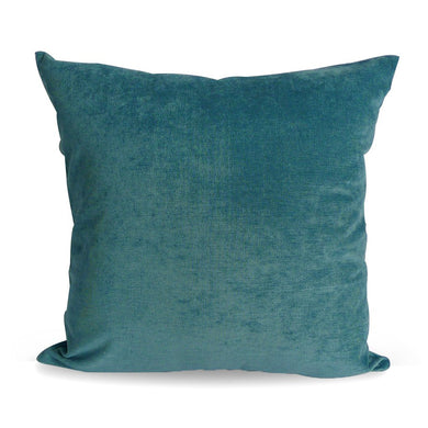 Teal Plush Cushion Cover