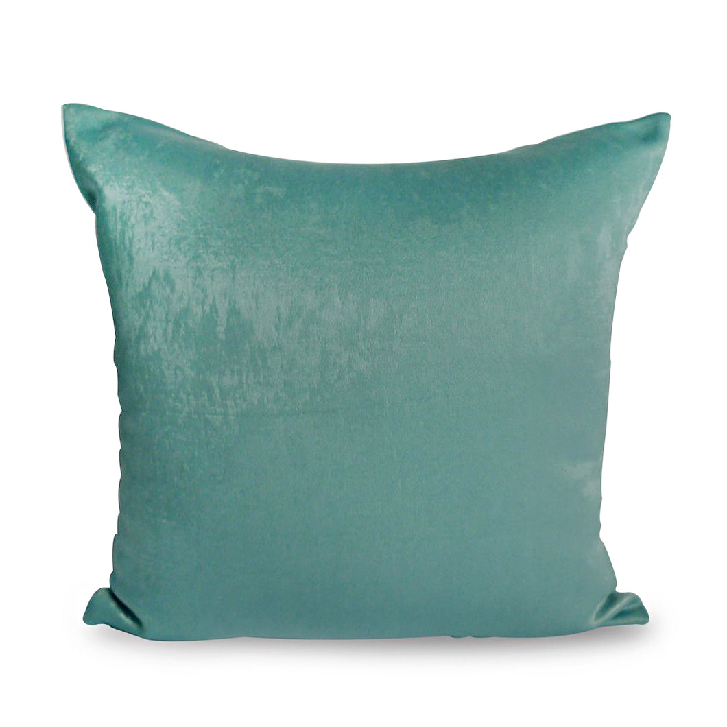 Mirage Cushion Cover, Cotton Velvet, Turquoise