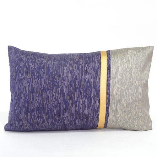 Anzio Cushion Cover, Blue and Champagne Gold