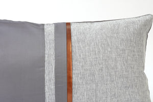 Bailey Cushion Cover, Grey and Brown