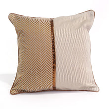Bergamo Cushion Cover, Cream and Mustard Yellow